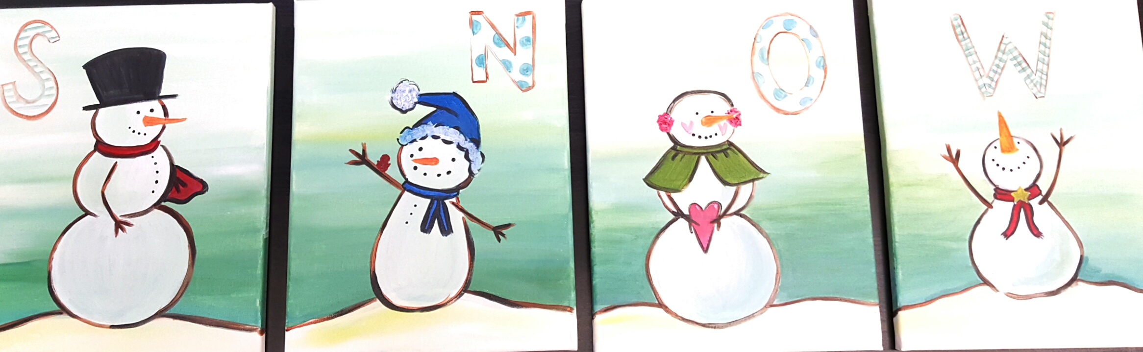 """Let it Snow"" Family Paint Night Jan: 16 1"