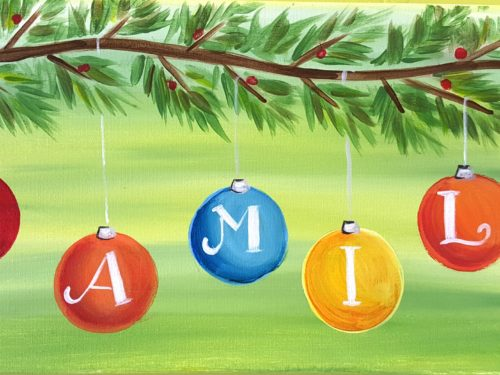 Family Ornaments (Customize design with your own name) Friday Dec 8th