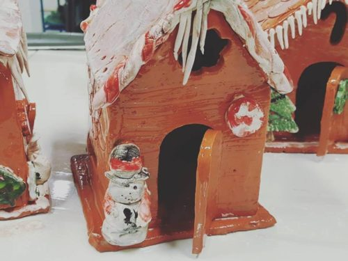 Family Ginger Bread House That Will Last (Clay Building) Sat, Dec 17th 10:30-12 noon