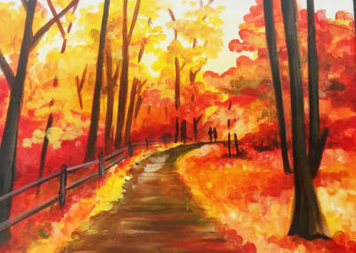 Autumn Walk Paint Night 1