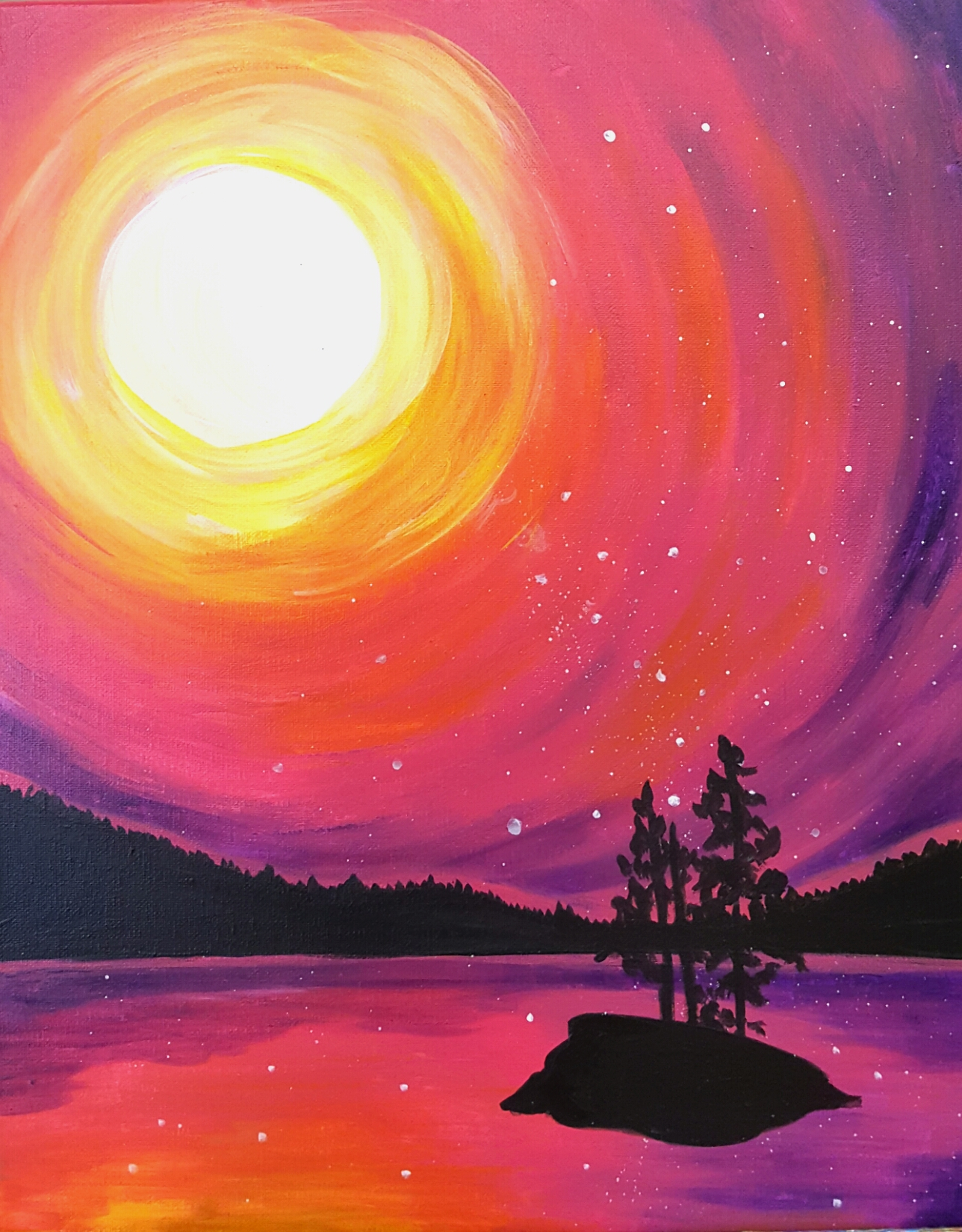 Wild Sunset Paint Night 1