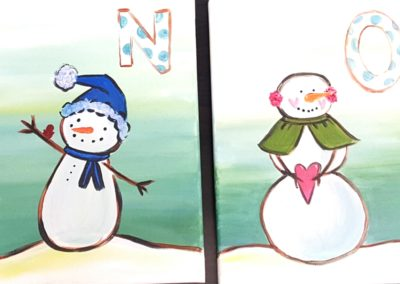 let it snow family paint night