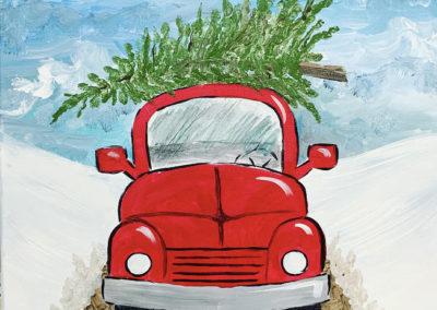 Christmas Ride Paint Night Dec 20th (Beginner Friendly!)